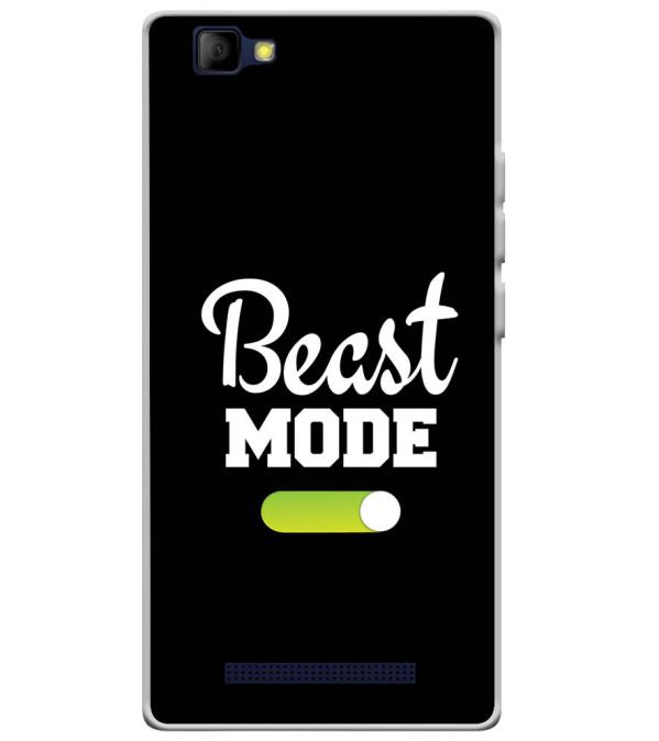 Beast Mode Soft Silicone Back Cover for Lyf Wind 7S