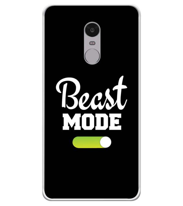 Beast Mode Soft Silicone Back Cover for Xiaomi Redmi Note 4