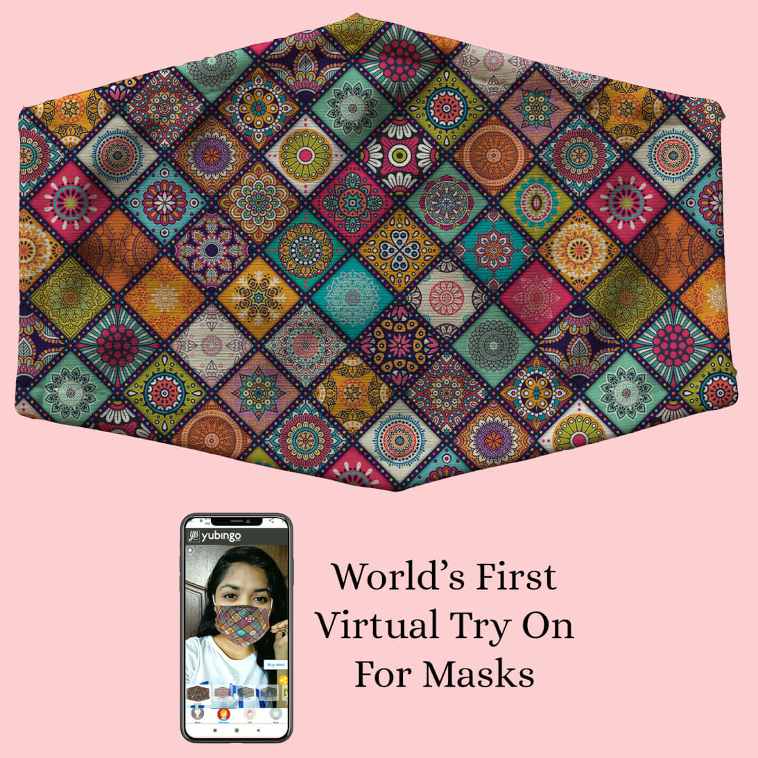 Beautiful Mandala Pattern Mask