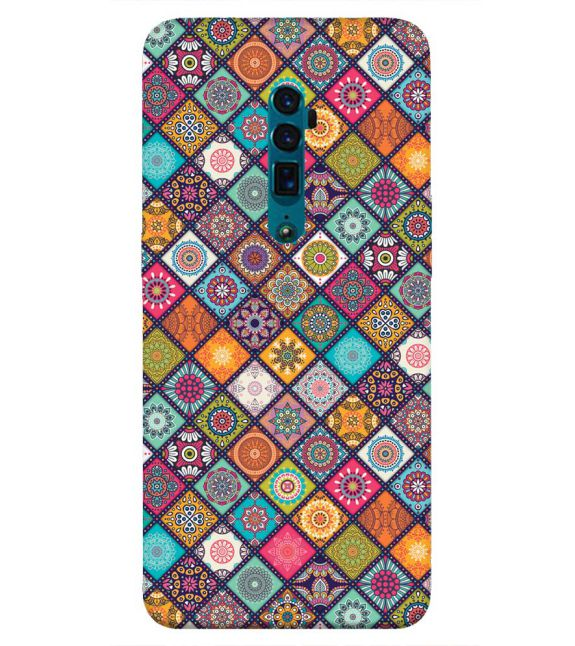 Beautiful Mandala Pattern Back Cover for Oppo Reno 10x zoom