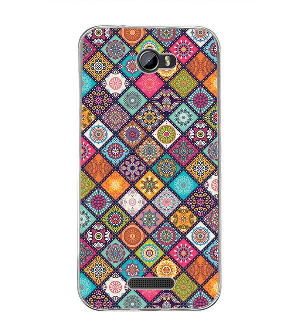 Beautiful Mandala Pattern Back Cover for Intex Lion 3