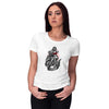 Beauty On Engine Women T-Shirt-White