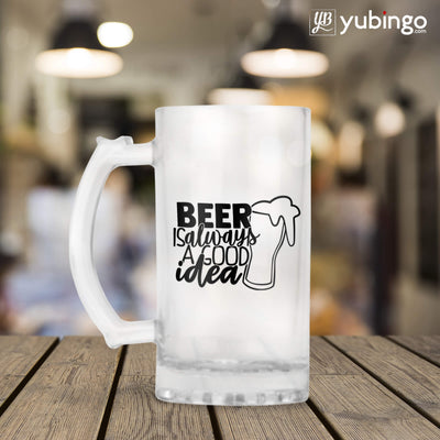 Beer Is Always Good Idea Beer Mug-Image3