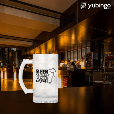 Beer Is Always Good Idea Beer Mug-Image5