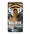 Believe Back Cover for Coolpad Mega 2.5D