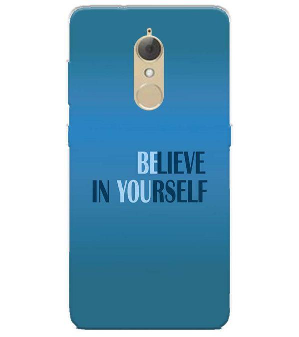 Believe in Yourself Back Cover for Lenovo K8