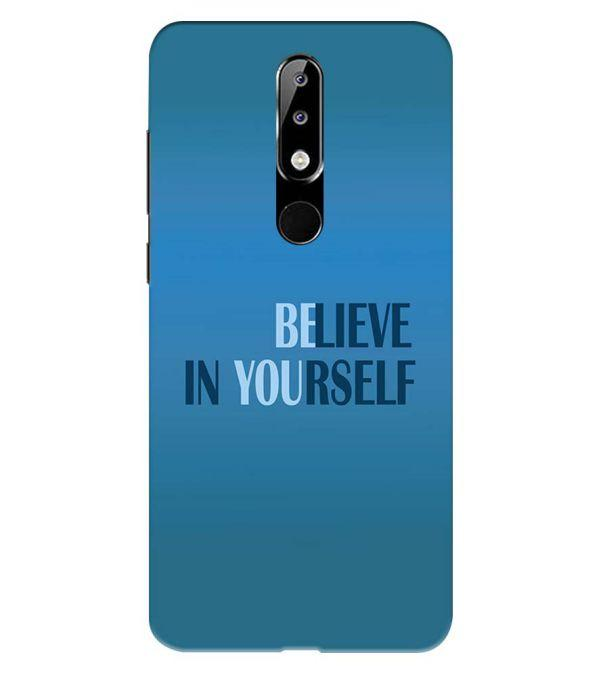 Believe in Yourself Back Cover for Nokia 5.1 Plus (Nokia X5)