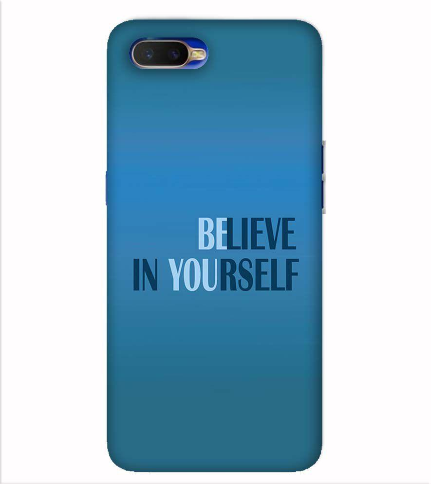 Believe in Yourself Back Cover for Oppo K1