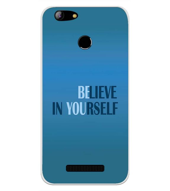 Believe in Yourself Back Cover for Intex Aqua Lions X1-Image3