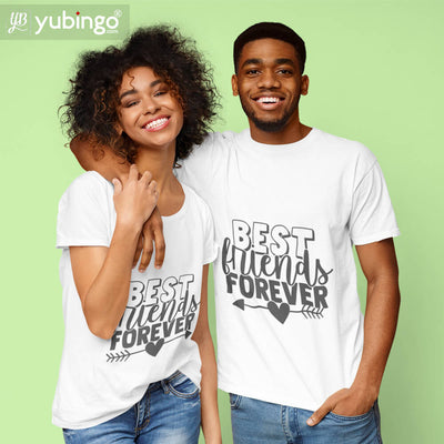 Best Friends Forever BFF T-Shirt-White