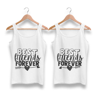 Best Friends Forever BFF Tank Tops-White