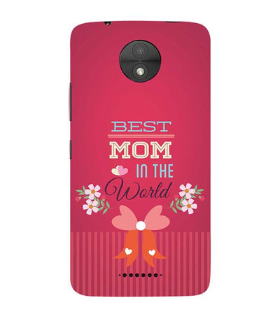 Best Mom in the World Back Cover for Motorola Moto C