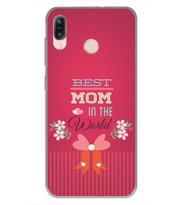 Best Mom in the World Soft Silicone Back Cover for Asus Zenfone Max Pro M1