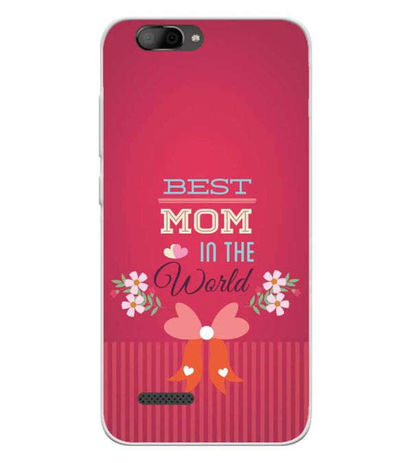 Best Mom in the World Soft Silicone Back Cover for InFocus A3