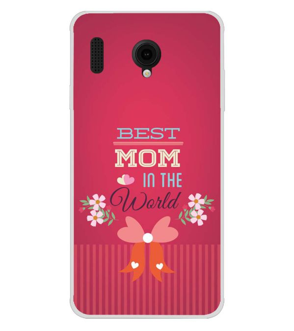 Best Mom in the World Soft Silicone Back Cover for Intex Aqua Lions E3
