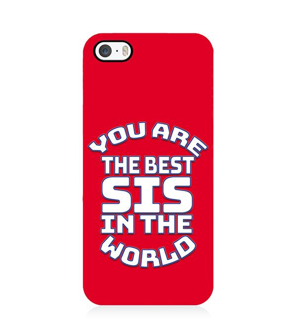 Best Sister In The World Back Cover for Apple iPhone 5 and iPhone 5S and iPhone SE