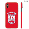 Best Sister In The World Back Cover for Apple iPhone X