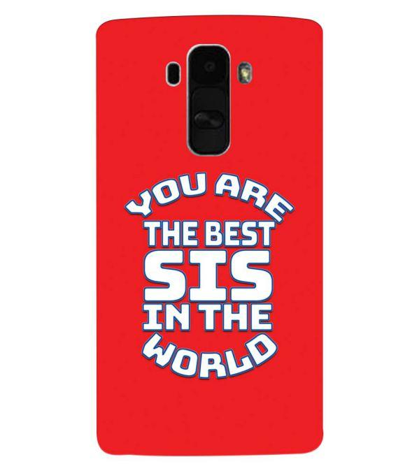 Best Sister In The World Back Cover for LG G4 Stylus