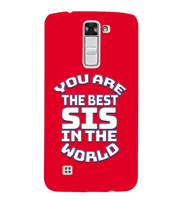Best Sister In The World Back Cover for LG K10