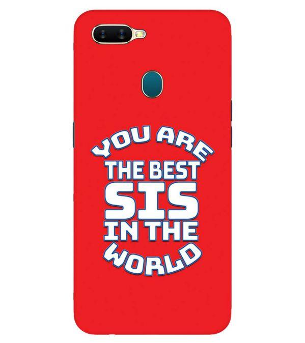 Best Sister In The World Back Cover for Oppo A7