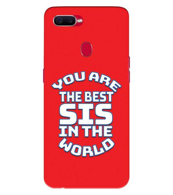 Best Sister In The World Back Cover for Oppo F9 Pro
