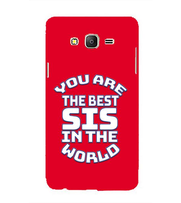 Best Sister In The World Back Cover for Samsung Galaxy On5 and On5 Pro