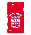 Best Sister In The World Back Cover for Sony Xperia C4