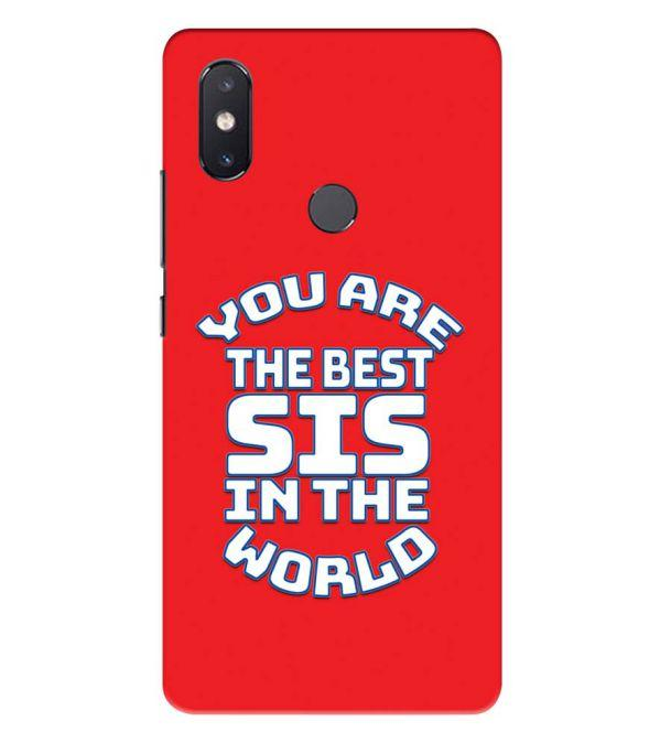 Best Sister In The World Back Cover for Xiaomi Mi 8