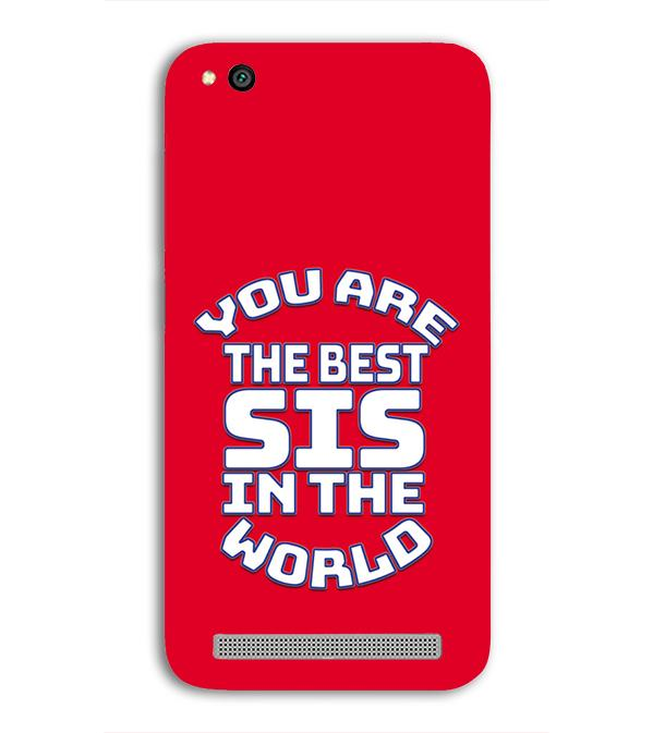 Best Sister In The World Back Cover for Xiaomi Redmi 5A