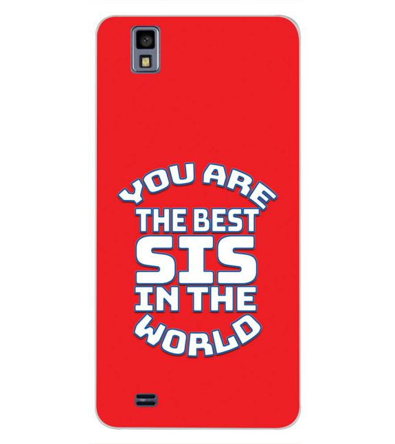 Best Sister In The World Back Cover for Gionee Pioneer P2M-Image3