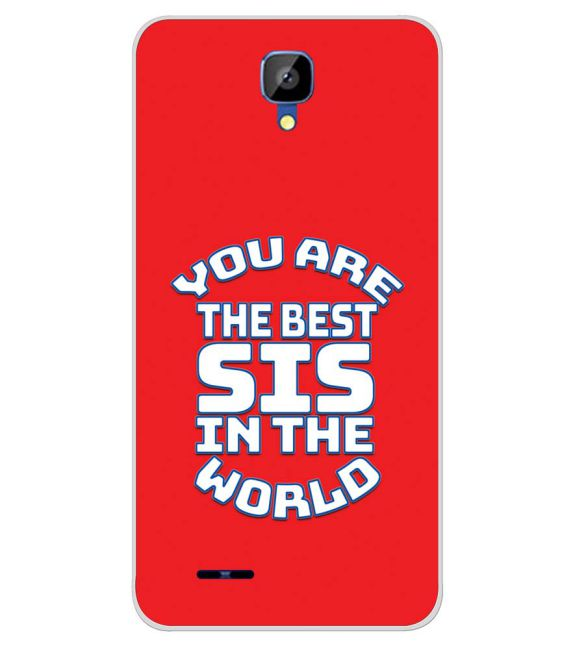 Best Sister In The World Back Cover for Karbonn Aura Champ-Image3