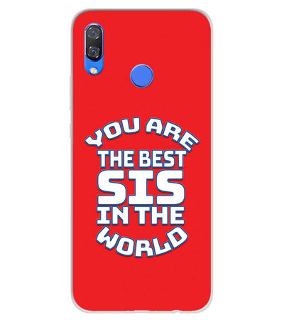 Best Sister In The World Soft Silicone Back Cover for Huawei Y9 (2019)