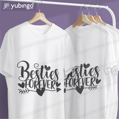 Besties Forever T-Shirt-White