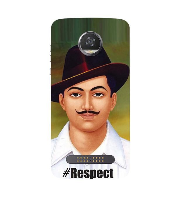Bhagat Singh Back Cover for Motorola Moto Z2 Play