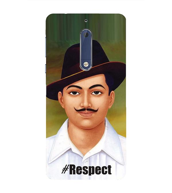Bhagat Singh Back Cover for Nokia 5