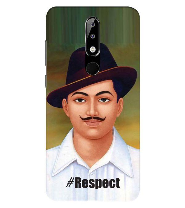 Bhagat Singh Back Cover for Nokia 5.1 Plus (Nokia X5)