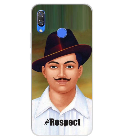 Bhagat Singh Soft Silicone Back Cover for Huawei Y9 (2019)