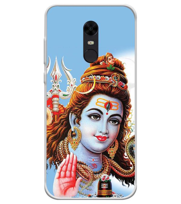 Bhagwan Shiv Soft Silicone Back Cover for Xiaomi Redmi Note 5