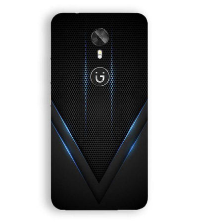 Black and Blue Back Cover for Gionee A1