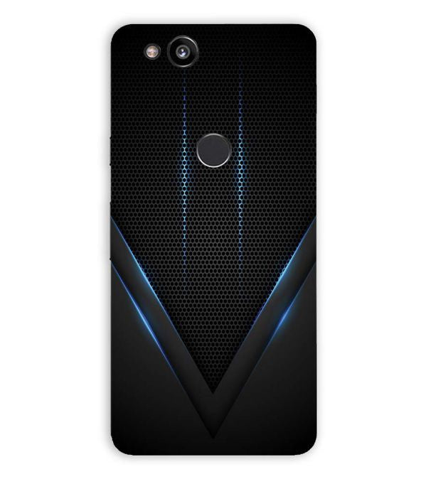 Black and Blue Back Cover for Google Pixel 2 (5 Inch Screen)