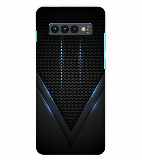 Black and Blue Back Cover for Samsung Galaxy S10 (6.1 Inch Screen)