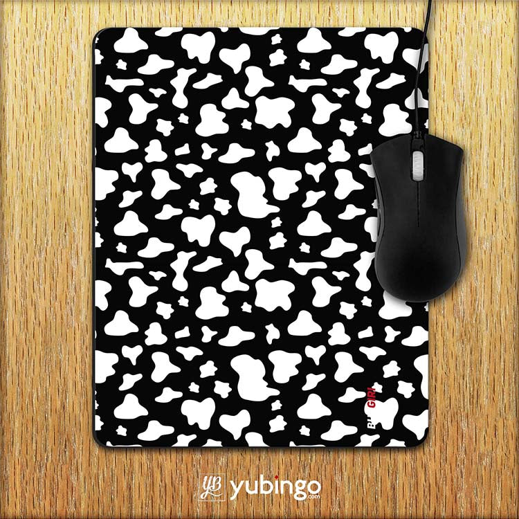 Black & White Pattern Mouse Pad