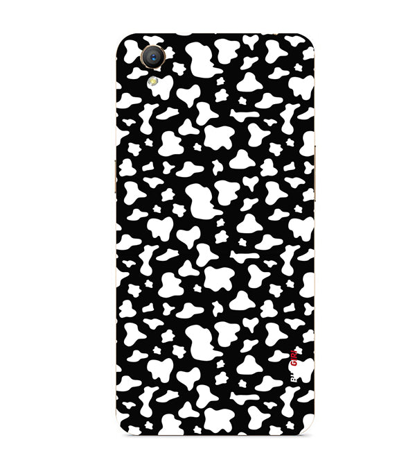 Black And White Pattern Back Cover for Oppo A37