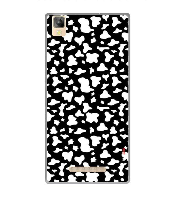 Black And White Pattern Back Cover for Panasonic Eluga A2