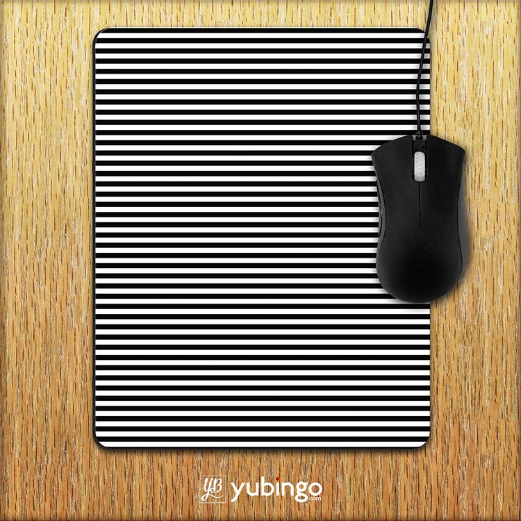 Black Stripes Mouse Pad