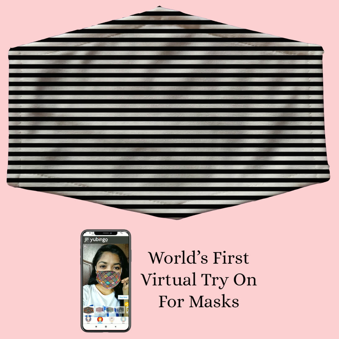 Black Stripes Mask