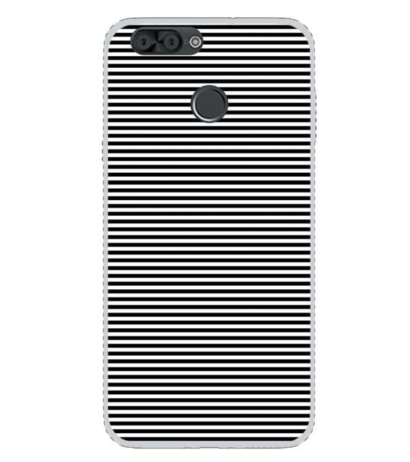 competitive price 22ba3 0ffab Black Stripes Back Cover for InFocus Snap 4
