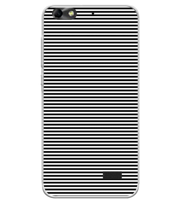 new style 26ced 2c89b Black Stripes Soft Silicone Back Cover for Huawei Honor Bee 4G