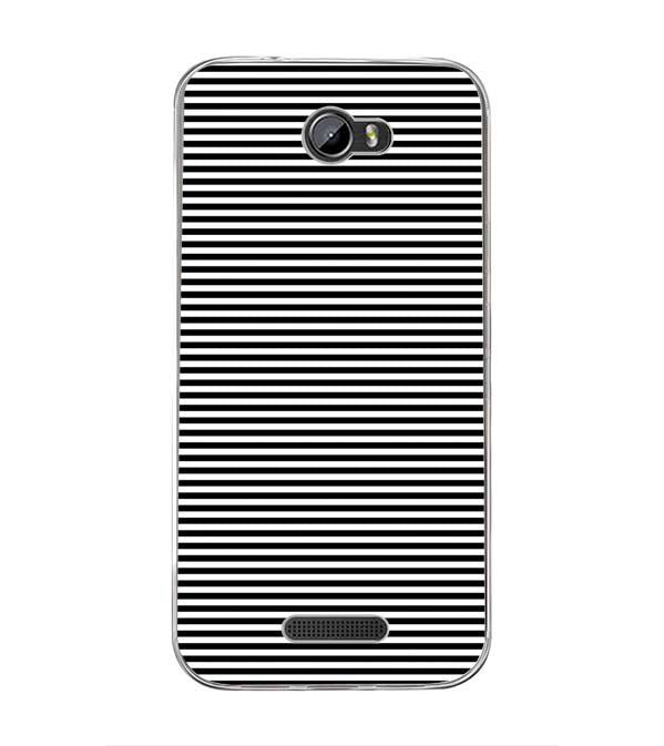 Black Stripes Back Cover for Intex Lion 3