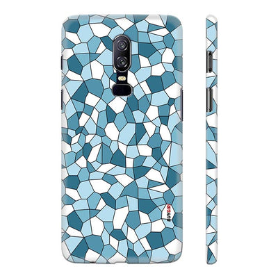 Blue Mosaic Back Cover for OnePlus 6